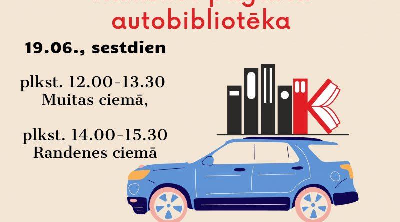 Autobibliotēka Muitas un Randenes ciemā 19.06.2021.